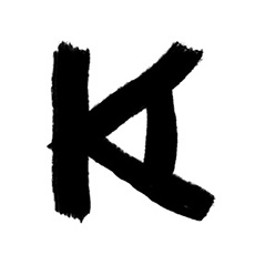 monogram of letter A and K